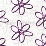 Papierové tapety na stenu Be You - abstraktné kvety ružové MEGA ZĽAVA