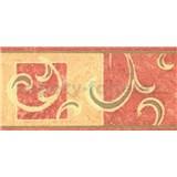 Samolepiace bordúra secesný vzor hnedý 10 m x 10 cm