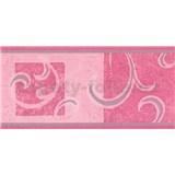 Samolepiace bordúra secesný vzor ružový 10 m x 10 cm