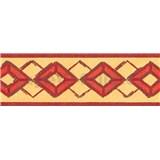 Samolepiace bordúry kosoštvorce červené 5 m x 6,9 cm