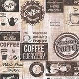 Papierové tapety na stenu retro cofee hnedé