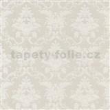 Tapety na stenu Crispy - zámocký vzor - biely