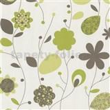 Tapety na stenu Delight - zelené design kvety