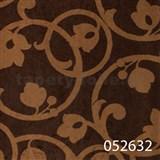 Tapety na stenu Light Story - secesný vzor bronzový na tmavo hnedom podklade