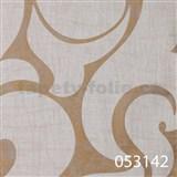 Tapety na stenu La Veneziana 2 - biely benátsky vzor na zlatom podklade s metalickým efektom