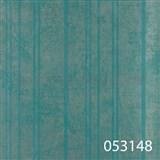 Tapety na stenu La Veneziana - strieborné prúžky s metalickým efektom na tyrkysovom podklade