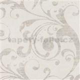 Tapety na stenu La Veneziana - barokový vzor krémový