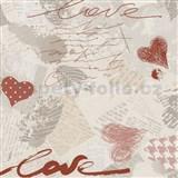 Papierové tapety na stenu Dieter Bohlen - Love červené
