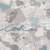 Papierové tapety na stenu Dieter Bohlen - Love modré