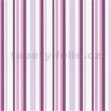 Vliesová tapeta - fialové prúžky - ZĽAVA