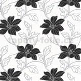 Tapety na stenu Feeling - kvety ľalie - čierne