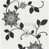 Tapety na stenu Flair - kvet hviezdový - čierny