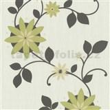 Tapety na stenu Flair - kvet hviezdový - zelený - ZĽAVA