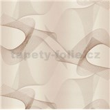 Tapety na stenu béžový abstrakt 10,05 m x 1,06 m PROFI ROLKA