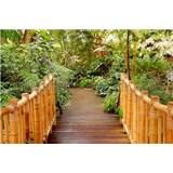 Vliesové fototapety most do záhrady