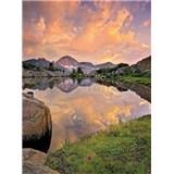 Fototapeta horské jazero, rozmer 184 x 254 cm