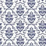 Samolepiace tapety ornamenty modré - 67,5 cm x 15 m