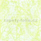 Vliesové tapety na stenu Graphics Alive - konáre stromov neónovo zelené
