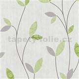 Tapety na stenu Happy Time - lístky - zelené