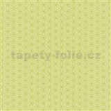 Papierové tapety na stenu Happy Kids 2 - geometrické kvetinky zelené