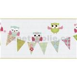 Bordúra papierová Happy Kids 2 - sovy zelené 5 m x 26,5 cm