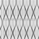 Tapety na stenu Jewel - hra línií - sivo-čierne MEGA ZĽAVA