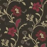 Tapety na stenu Jewel - moderné kvety - červené