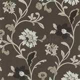 Tapety na stenu Jewel - moderné kvety - hnedé