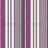 Tapety na stenu Jewel - pruhy - fialové