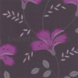 Tapety na stenu Jewel - ľalia - fialová