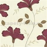 Tapety na stenu Jewel - ľalie - červené