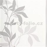 Tapety Lacantara 3 - stonky listov šedej s leskom