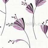 Tapety Lacantara 3 - kvety ružovo-fialové