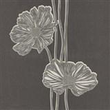 Tapety Lacantara 3 - veľké kvety svetlo hnedé