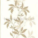 Tapety Lacantara 3 - stonky listov svetlo hnedé s leskom