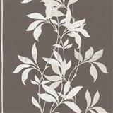 Tapety Lacantara 3 - stonky listov biele s leskom