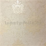 Tapety na stenu La Veneziana 3 zámocký vzor damašek krémový