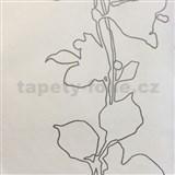 Tapety na stenu La Veneziana 3 listy strieborné na svetlo béžovom podklade