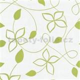 Tapety na stenu Lofty - kvety štylizované zelené - ZĽAVA