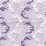 Tapety na stenu Lofty - vlnovky fialové - ZĽAVA