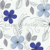 Tapety na stenu Lofty - kvety modré