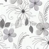 Tapety na stenu Lofty - kvety fialové