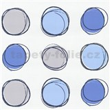 Tapety na stenu Lofty - kruhy modré