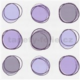 Tapety na stenu Lofty - kruhy fialové