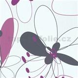 Vliesové tapety na stenu Suprofil Selection kvety ružovo-fialové