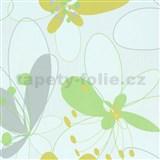 Vliesové tapety na stenu Suprofil Selection kvety zelené