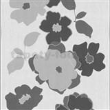 Tapety na stenu My Trend - kvety - sivé