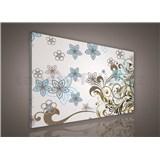 Obraz na stenu kvety s ornamentami 75 x 100 cm