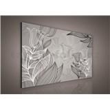 Obraz na stenu listy s tulipánmi 75 x 100 cm