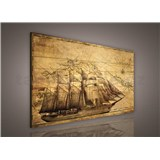Obraz na stenu plachetnica 75 x 100 cm